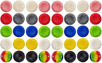 40 Pcs Colorful Silicone Accessories  Parts Thumb Grip Cap Cover, Analog Controller Thumb Stick Grips Cap Cover For PS2, PS3, PS4, XBox 360, XBox One Controller