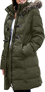 Women's Winter Warm Thickened Down Jacket Coat with Removable Fur Hood