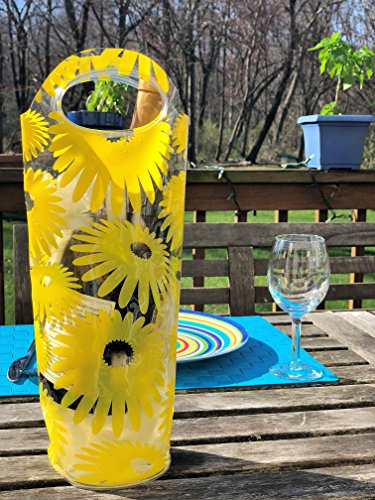 Portable Wine Chiller Bag - Cooler Tote uses Ice & Water, No Freezing Needed, Best Gift Bag for Wine Enthusiast, Women & Men, Take Wine to Go or Outdoors, Keep Wine Insulated on Patio & Pool