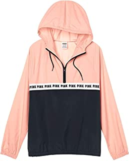 2ad94d71 Victoria's Secret Pink Anorak Windbreaker Quarter Zip Jacket Pink  XSmall/Small NWT