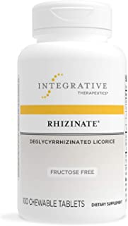 Integrative Therapeutics - Rhizinate, Fructose Free - Deglycyrrhizinated Licorice (DGL) - Suppot Stomach an...