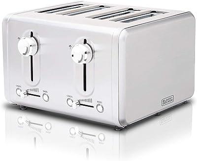 Black + Decker BD4250 Toaster 4 Slice, Stainless Steel