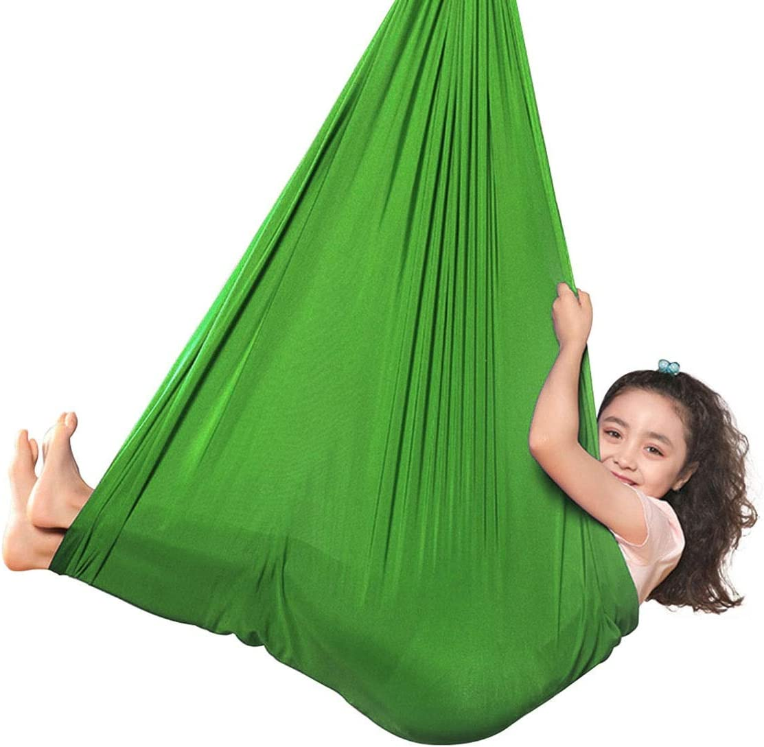 Ranking TOP7 LHHL Aerial Elastic Sale Special Price Yoga Hammock Indoor Therapy Swing for Kids C