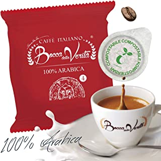 Caffè Italiano Bocca Della Verità Cialde 100% ARABICA - de 100 cápsulas - compatible ESE dm 44 mm