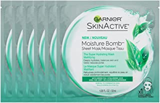 Garnier SkinActive Super Hydrating Sheet Mask, Mattifying, 6 Count