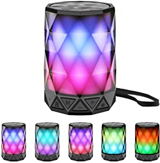 LED Portable Bluetooth Speakers with Lights, LFS Night...