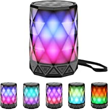 LED Portable Bluetooth Speakers with Lights, LFS Night Light Waterproof,Speakers Color..