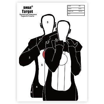 20 PCS DMAR Bersaglio per tiro con LArco 42/×30cm// 16.5 /×12 Bersaglio per Pistola e Arco