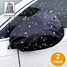 Auto Side Mirror Protect Cover 2 PACK Snow and Ice Mirror Covers Universal Size Fits Cars SUV Truck Van with Advanced Anti Bird Poop Technology Frost Guard Mirror Cover Side View Mirror Cover for Cars
