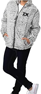 Sigma Kappa Sherpa Jacket I Full Zip I Greek Letters (Sigma Kappa Clothing)