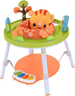 Baby's View 3-Stage Activity Center, Easy to Babysit Baby Toys, Provides A Whole Body Approach to Play from 4 Months to Toddler (New Luxury Little Lion Sets)