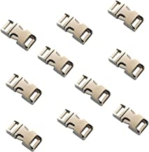 "DGQ 5/8-Inch Heavy Duty Metal Side Release Buckles Silver Color for Paracord Bracelets (5/8"" x10Pcs)"