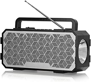 DoCooler J831 سماعات لاسلكية بلوتوث 5.0 مصباح يدوي صوت متعدد مؤثرات صوتية يدعم مكبر الصوت AUX TF USB للليل في الهواء الطلق...