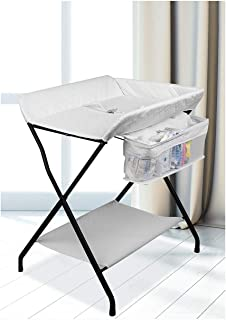 3 Colors-Bed Bath Changing Diaper Wet Newborn Baby Mobile Nursery Organizer,Baby Changing Stations Baby Products Diaper Table Baby Care Table Touching Portable Foldable (Color : A)