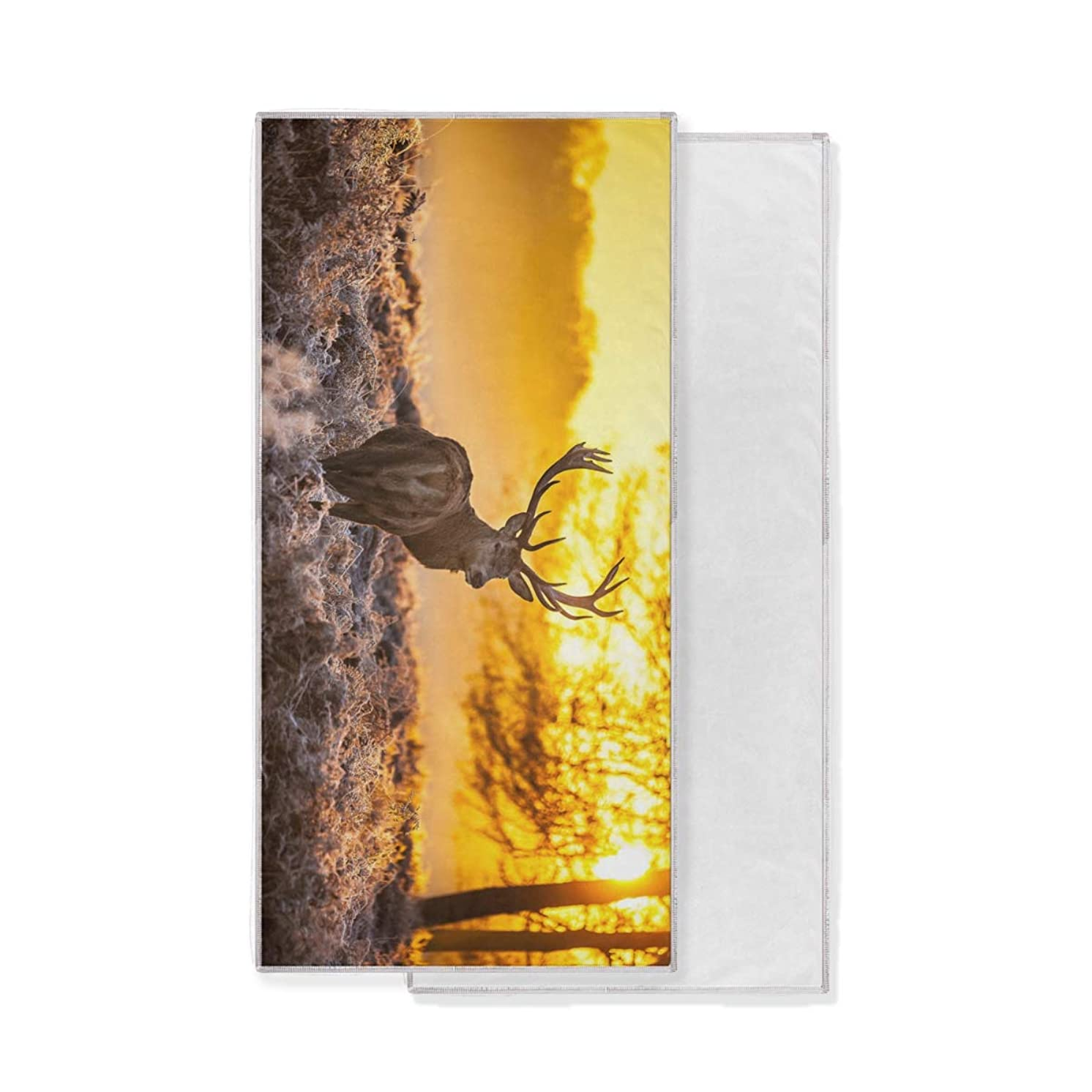 DOMIKING Quick Dry Travel Cooling Towels for Neck Elk Deer Sports Towel for Gym,Running,Hiking,Yoga,Camping, Swimming,Beach,Soft Breathable - 30x15 inch