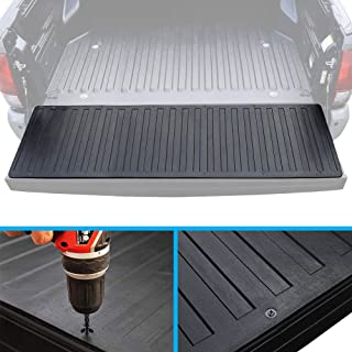 BDK Heavy-Duty Utility Truck Bed Tailgate Mat – Extra Thick Rubber Cargo Liner for Pickup Trucks with Universal Trim-to-Fit Design