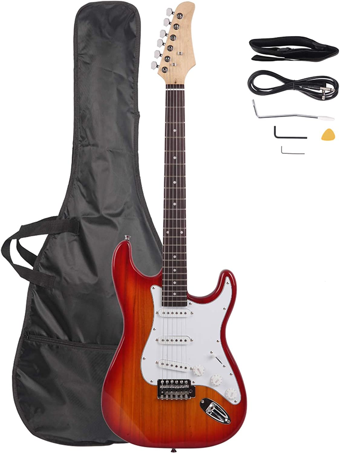 Rosewood Fingerboard quality assurance Electric Guitar Sunset Red G Max 56% OFF - Affordable