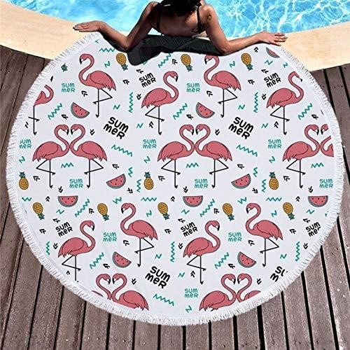 LinZX Flamenco Serie de Verano de la Piscina Toalla Toalla en la Playa 150 cm Microfibra Yoga Deporte esterillas de Playa Cubierta Exterior Informal,Beach Towel 1