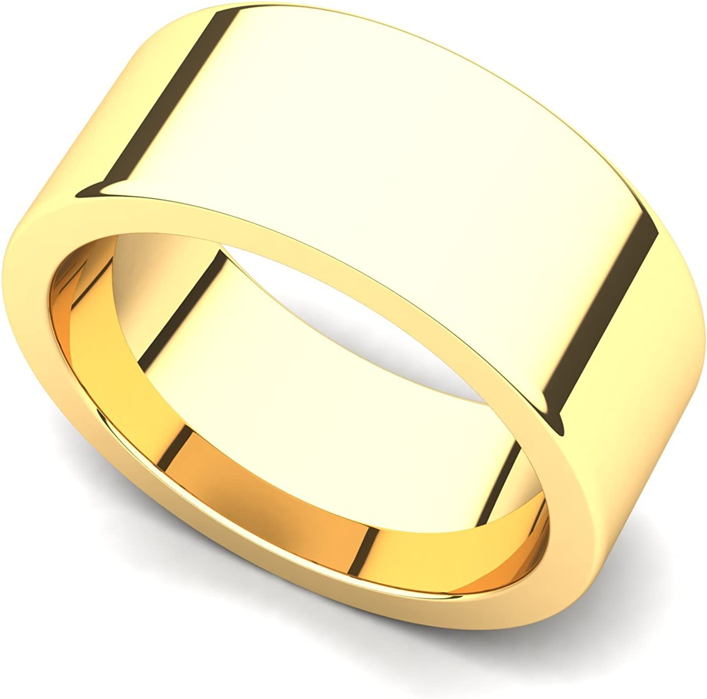 14k Yellow Gold 8mm Classic Plain Wedding Flat High quality new Selling and selling Band Ring
