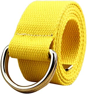 Cimaybeauty Double Loop Canvas Belt Outdoor Sports Casual Men and Women Students Lovers Waistband