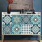 Panthem 10 adesivi per piastrelle da parete 20 x 20 cm adesivi in PVC impermeabile a prova di olio autoadesivi da parete vintage Art Decor cucina bagno fai da te decorazione casa