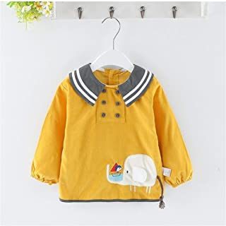 0-3 Years Old Men And Women Baby Waterproof Bib Cotton Anti-dressing Sleeved With Bib Unisex Baby Bibs (Color : Y, Size : ...