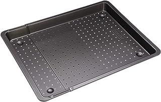 Zenker Backblech perforiert 52-37 cm x 33 cm, Ofenblech, ausziehbar & verstellbar, Lochblech, universal geeignet für Baguette, Kuchen, Pizza & Plätzchen