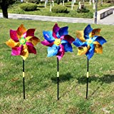 TOYANDONA 8 Piezas Pinwheelers Set Surtido Colores Brillo Viento Giradores Coloridos Pinwheel Molino Juguete para Jardín Fiesta Patio Césped Decoración Niños Regalos