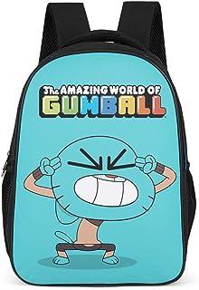 The Amazing World of Gumball - Mochila escolar para niños y niñas, diseño de gato, color azul