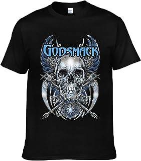 SkyeHancock Godsmack Women Short Sleeve Basic V-Neck Cotton Shirts Black