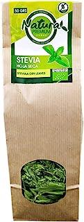 Natura Premium Estevia Hoja Envase Kraft Bio, 50g, Pack de 1