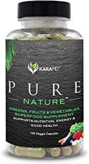 KaraMD Pure Nature | Dr Formulated Greens, Fruit & Vegetable Whole Food Health Supplement |...