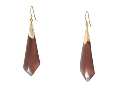 Alexis Bittar Faceted Wire Earrings (Metallic Red) Earring
