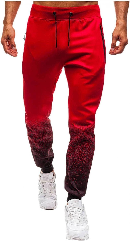 Kirbaez Mens Sweatpants, Fashion Solid Color Sport Pants Drawstring Elastic Waist Trainning Jogger Trousers with Pockets