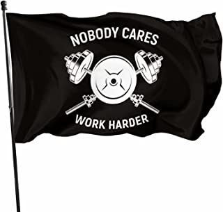 American Flag 3x5 Ft Nobody Cares Work Harder Garden Flag Banner Decoration Outdoor Flag,Parties,Gift