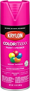Krylon K05528007 COLORmaxx Spray Paint, Aerosol, Mambo Pink