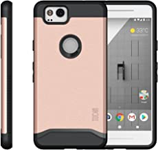 Google Pixel 2 Case, TUDIA [Merge Series] Heavy Duty Extreme Protection/Rugged with Dual Layer Slim Precise Cutouts Phone Case for Google Pixel 2 (2017) - Rose Gold