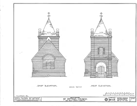 Historic Pictoric Structural Drawing HABS VA,64-TUN.V,4- (Sheet 2 of 9) - St. Peter's Church, State Route 642, Tunstall, New Kent County, VA 55in x 44in