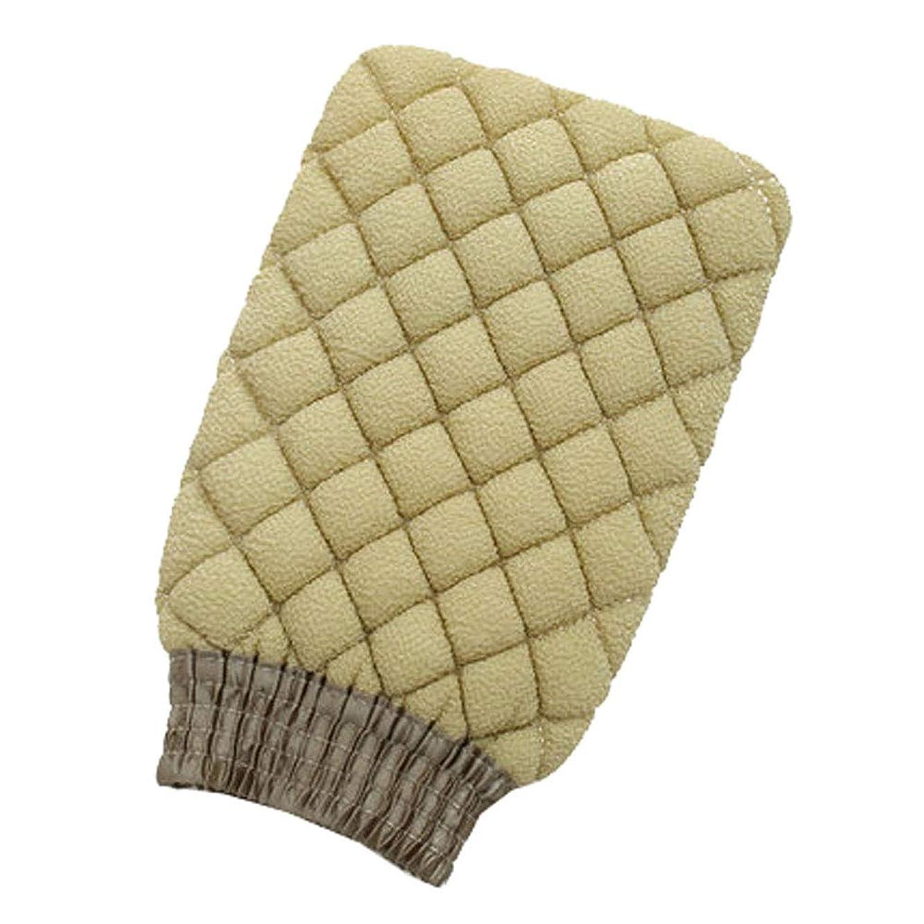 回復するタップ感動する両面バスタオル除染バスタオル後入浴手袋(グリーン)