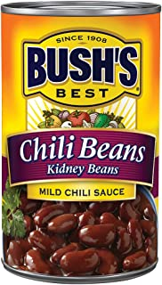 BUSH'S BEST Kidney Beans in a Mild Chili Sauce, 16 Ounce Can, Chili Beans, Canned Kidney Beans, Plant-based Protein and Fiber, Low Fat, Gluten Free, Canned Beans