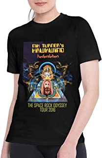T Shirts for Women Funny Hawkwind Tee Black
