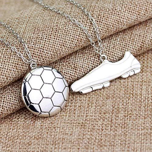 LBBYMX Co.,ltd Collar de Moda Collier 1 Pc/Set Botines de fútbol Colgante Collar Cadena de eslabones Hombres Mujeres Amantes Gargantilla Collares Accesorios Accesorios para Hombres Mujeres