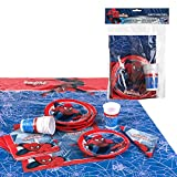 Disney - Pack de fiesta reciclable Spiderman - mantel + platos + vasos + servilletas (ColorBaby 87601)