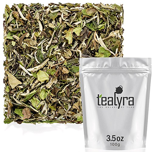Tealyra - Imperial Grade White Peony - Bai Mu Tan - Fresh White Loose Leaf Tea - Organically Grown -...