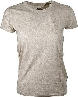 RALPH LAUREN Sport Women's Lightweight Crew-Neck T-Shirt (Medium, Dune Tan)