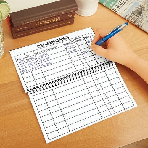 large size check register - 9