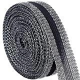 LEOBRO 裾上げテープ 強力 超ロングタイプ アイロンテープ 10m巻 23mm幅 黒 裾直しテープ すそ上げテープ ズボン裾あげ 布接着用