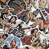 49 Piezas Mixtas de la Segunda Guerra Mundial Sexy Pin up Girl póster Pegatinas Impermeables Pegatin...