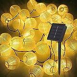 Guirlandas Luces Exterior Solar | Bombillas Solares Con 30 Luces LED | Decoracion Jardin, Balcon Y Pergolas | 6,5 Metros De Cordón