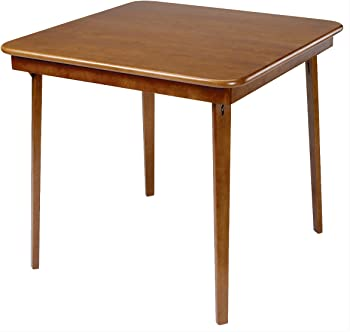 Hardwood Classic Straight Edge Folding Card Table